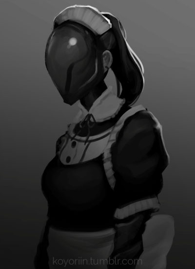 Dark cyborg girl