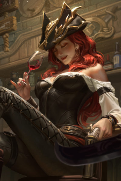 好运姐 Fan art—–Miss Fortune, Hou China_02
