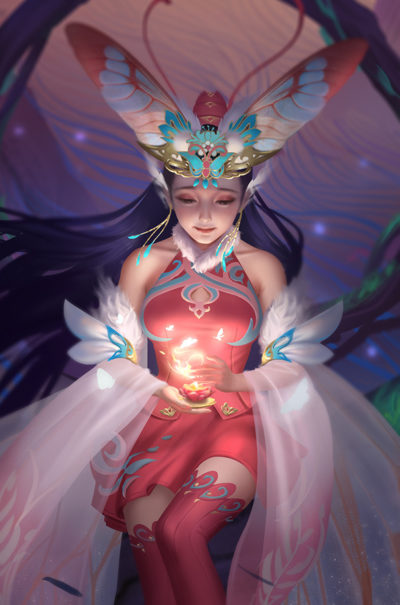 蛾仙Moth fairy maiden, Hou China_04