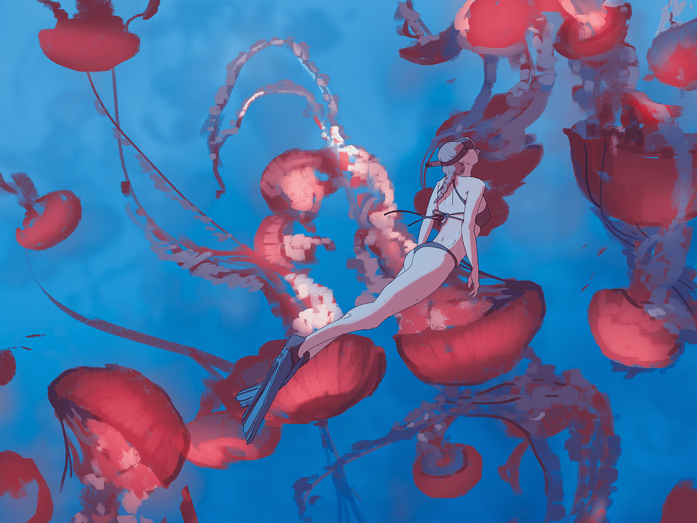 110 365 Swimming with jellyfishes, Atey Ghailan_01