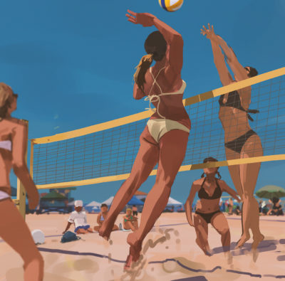 155 365 Volleyball smash, Atey Ghailan_01