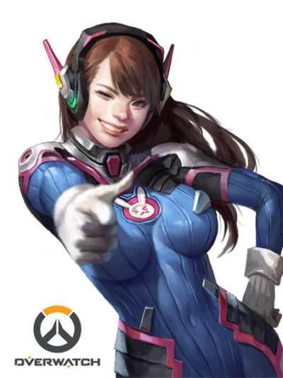 overwatch D.va painting by Dongho kang
