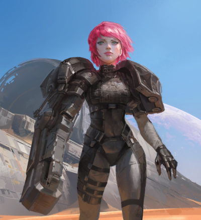Armored girl, YOUNG IL CHOI_01