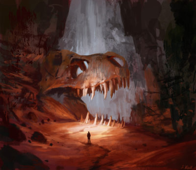 Daily Speedpaints Fossil Cave, Stefan Koidl_01