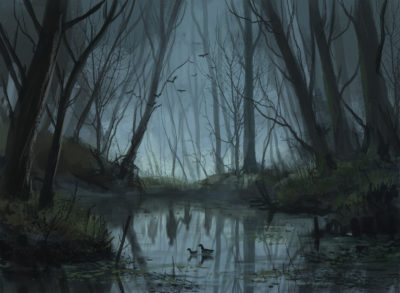 Daily Speedpaints Haunted forest, Stefan Koidl_08