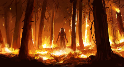 Daily Speedpaints fire witch, Stefan Koidl_20
