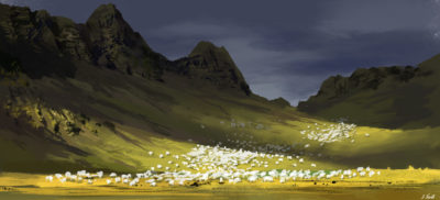 Daily Spitpaints 2 Sheep flock, Stefan Koidl_21
