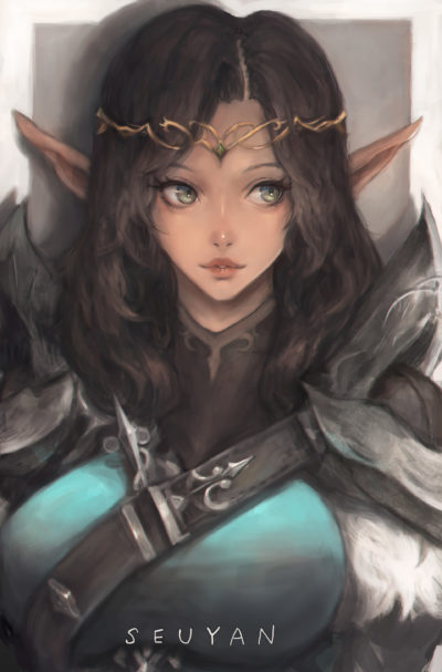 Elf girl portait, Seuyan art_01