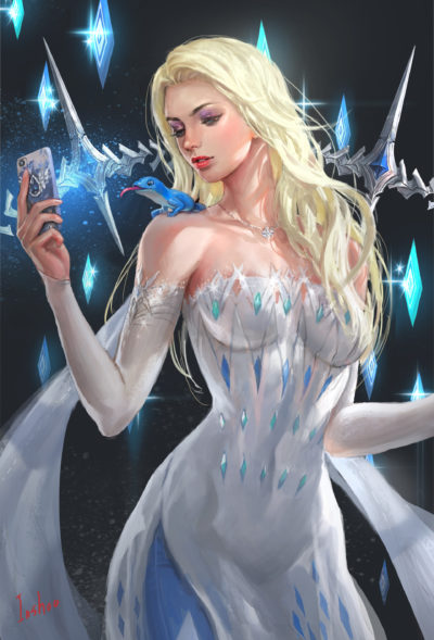 Elsa new dress fan Art of Frozen2, in shoo_01