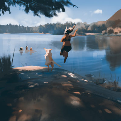 First swim of the summer older version, Atey Ghailan_05