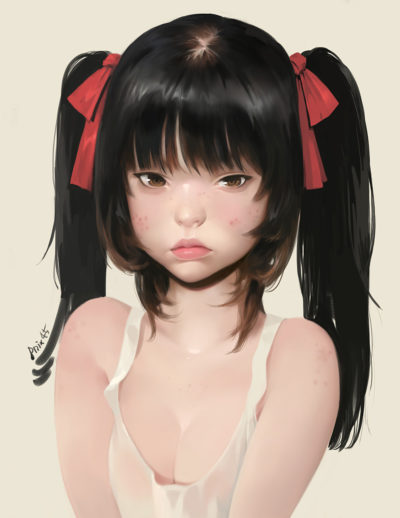 Girl with acne, Taejune Kim_01