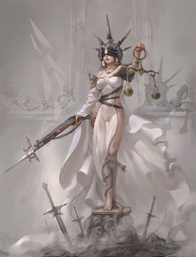 Lady of Justice, in shoo_01