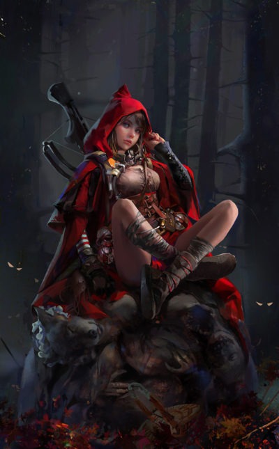 Little Red Riding Hood, amber ye_01