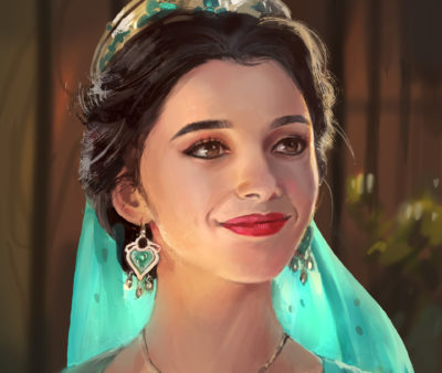 Painting Jasmine of Aladdin, in shoo_01