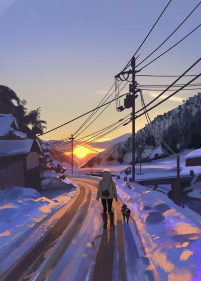 Recent sketches 10 wont be going home to Sweden this year for Christmas, going to miss all the snow, decided to paint some instead, Atey Ghailan_01