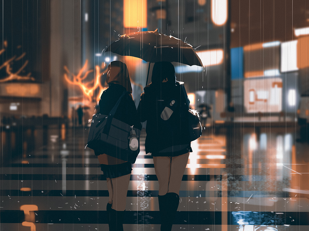 Sketch collection 1 2018 Rainy weather, Atey Ghailan_01