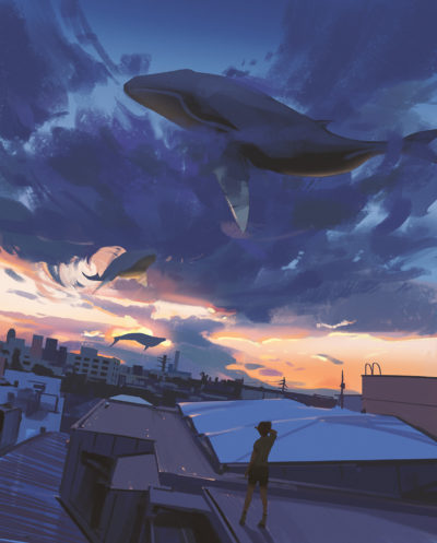 Sketch collection 1 2018 Sky whales, Atey Ghailan_02