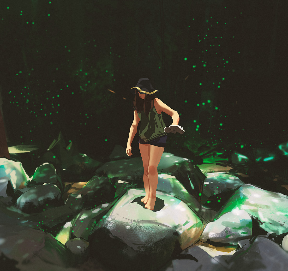 Sketch collection 1 2019 Heat of the forest, Atey Ghailan_01