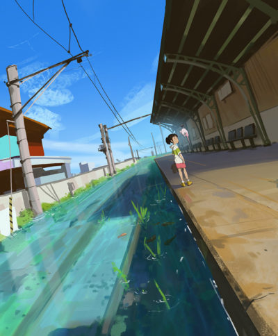 Sketch collection 13 2018 Sea train, Atey Ghailan_01