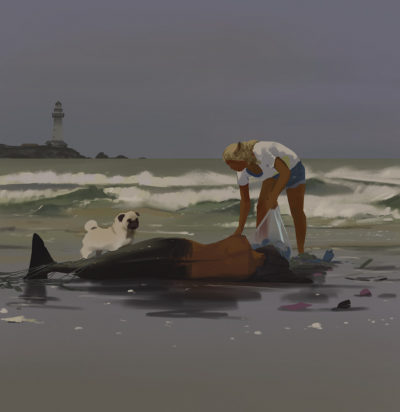 Sketch collection 13 2018 Washed ashore, Atey Ghailan_02