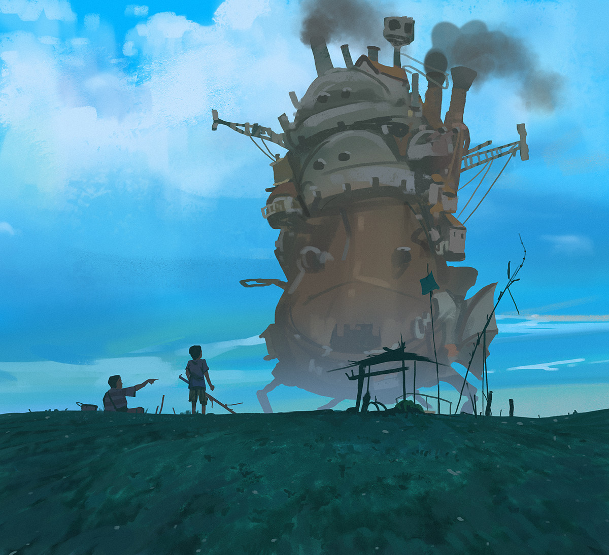Sketch collection 14 2018 howl moving castle, Atey Ghailan_05