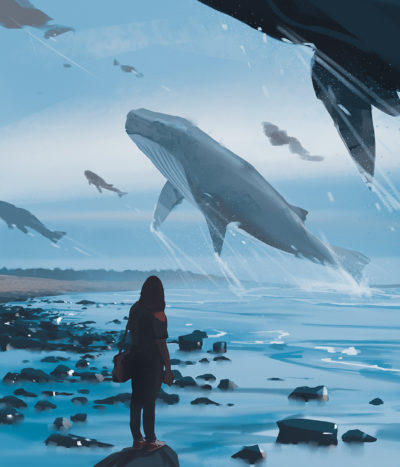 Sketch collection 16 2018 Whale migration, Atey Ghailan_01