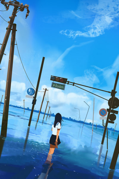 Sketch collection 18 2018 Flooded world, Atey Ghailan_01