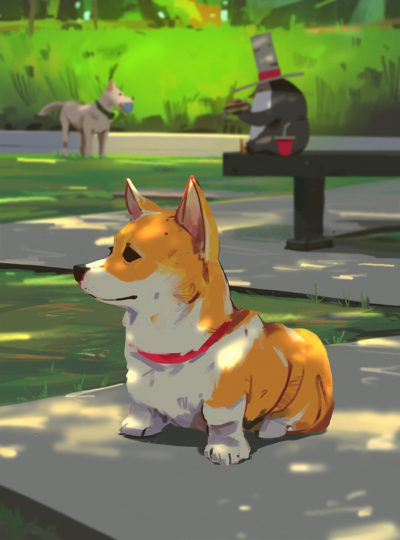 Sketch collection 20 2018 Dogpark, Atey Ghailan_03