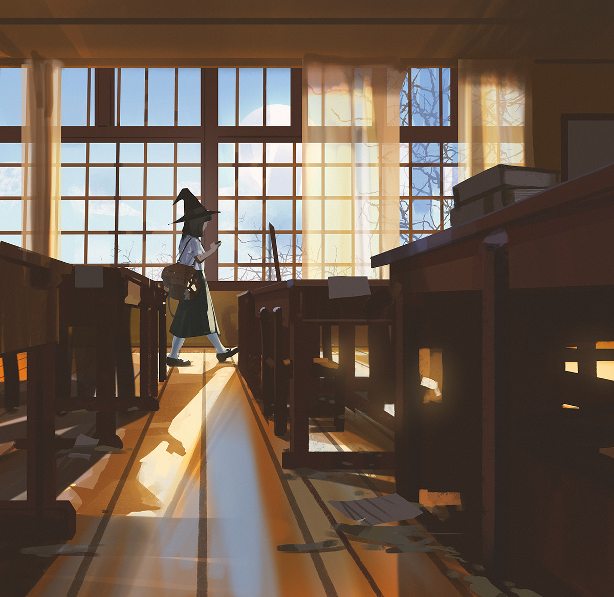 Sketch collection 22 2018 End of class, Atey Ghailan_02