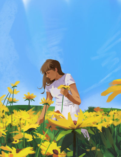 Sketch collection 22 2018 Sunflowers, Atey Ghailan_03
