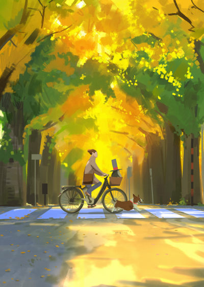 Sketch collection 23 2018 Bike ride, Atey Ghailan_02