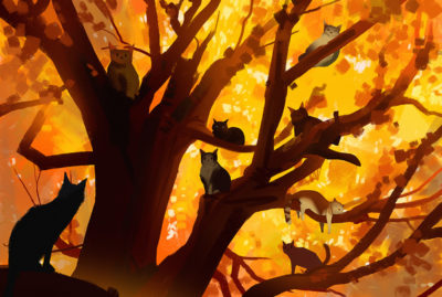Sketch collection 25 2018 Autumn cats, Atey Ghailan_04