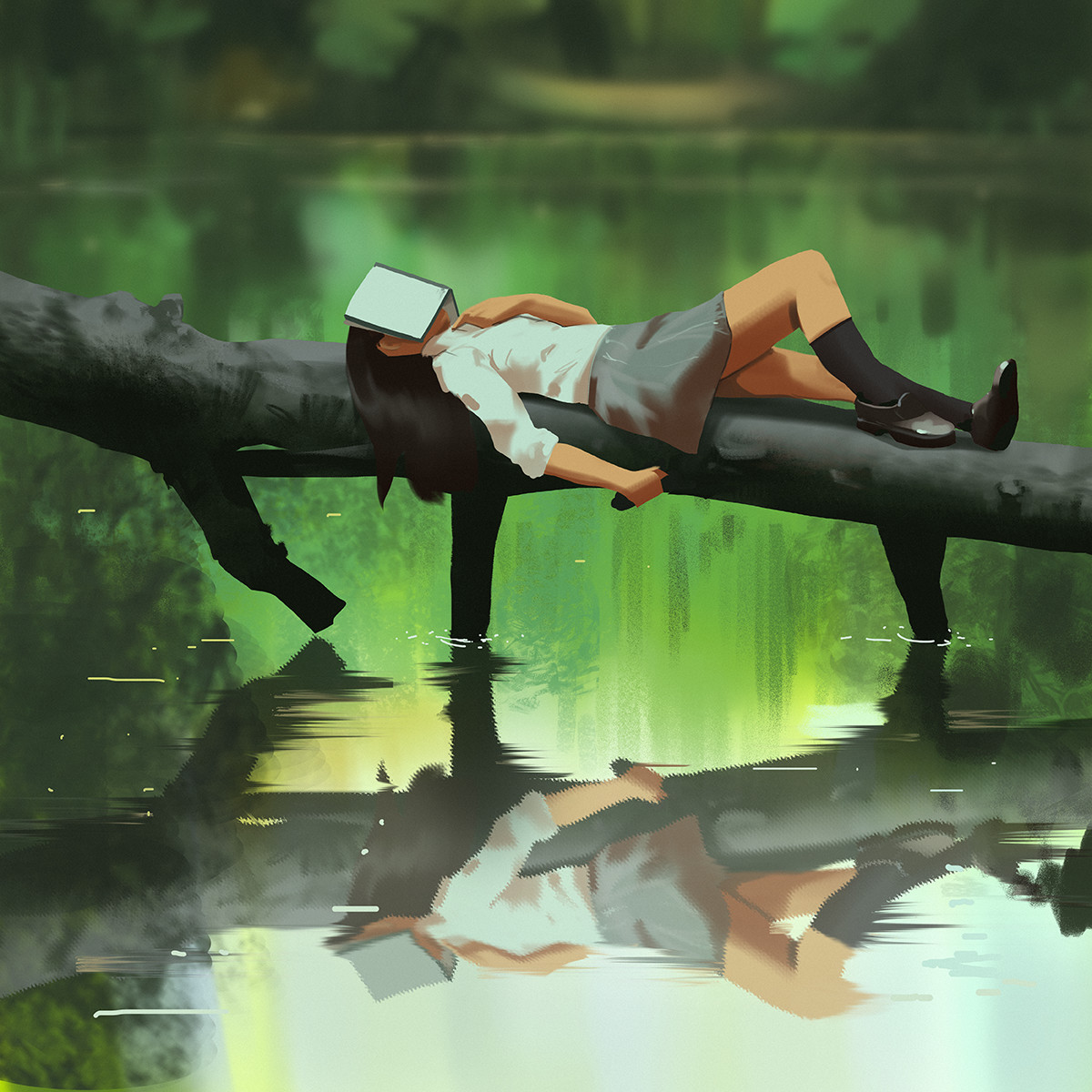 Sketch collection 27 2018 Lazy reading, Atey Ghailan_02