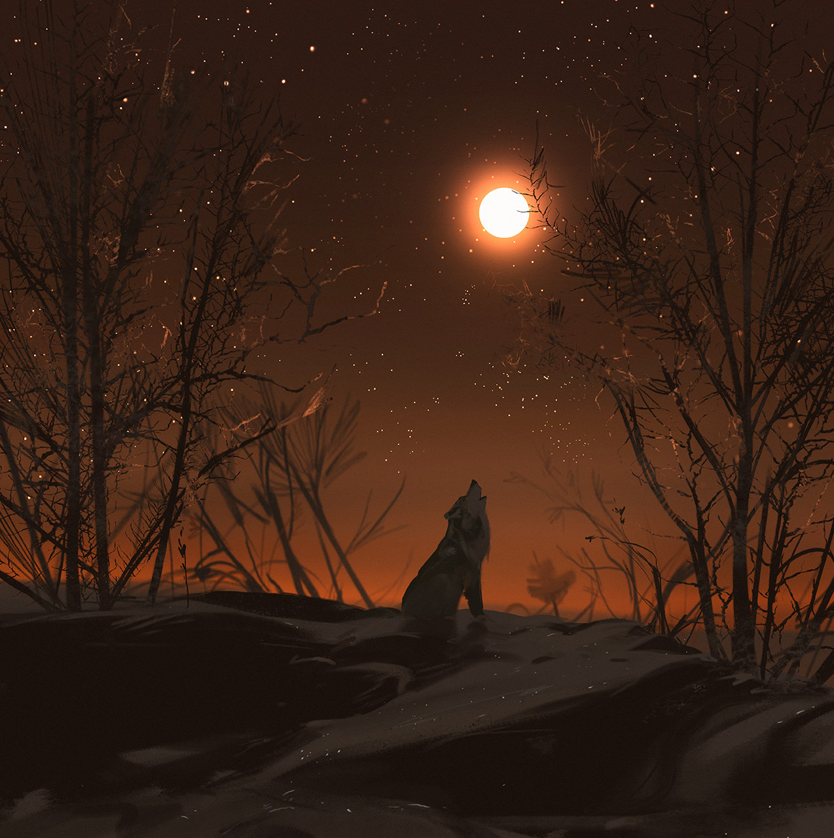 Sketch collection 29 2018 Howl of the wolf, Atey Ghailan_03