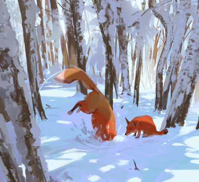 Sketch collection 29 2018 Hunting, Atey Ghailan_01