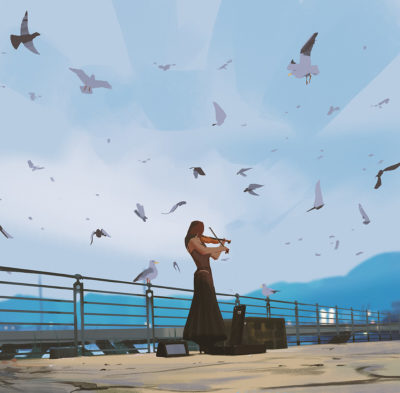 Sketch collection 4 2019 Bird song, Atey Ghailan_04
