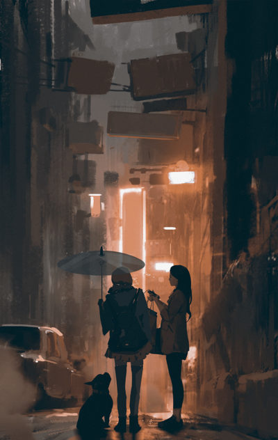 Sketch collection 5 2018 Orange light, Atey Ghailan_02