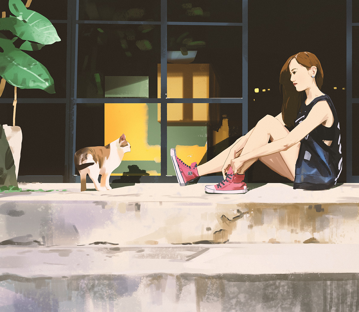 Sketch collection 5 2018 Pink Shoes, Atey Ghailan_03