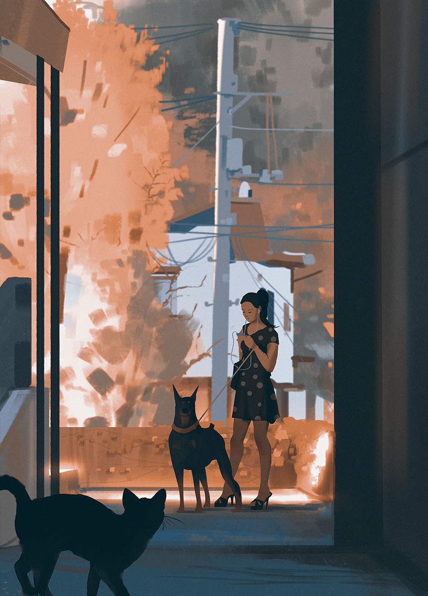 Sketch collection 6 2018 On alert, Atey Ghailan_04