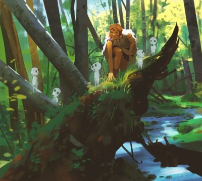 Sketch collection 7 2018 princess mononoke, Atey Ghailan_03