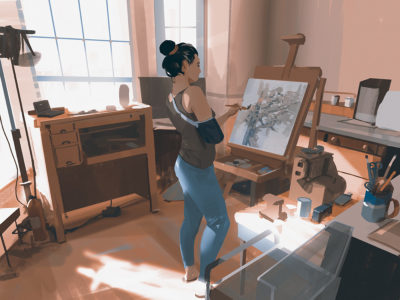 Sketch collection 9 2018 The artist – started this painting last year when i had injured my non drawing arm, had to paint with one hand for a while, Atey Ghailan_01