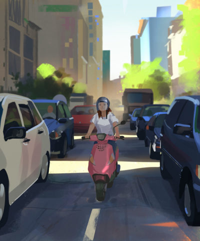 Sketch collection 9 2018 Traffic Jam – sketch done inspired by all the traffic jams in LA, ...