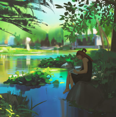 Sketching at the botanical garden, Atey Ghailan_01