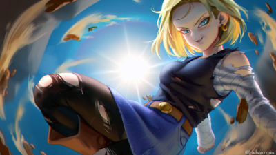 Some fan arts android 18, WHO ._01