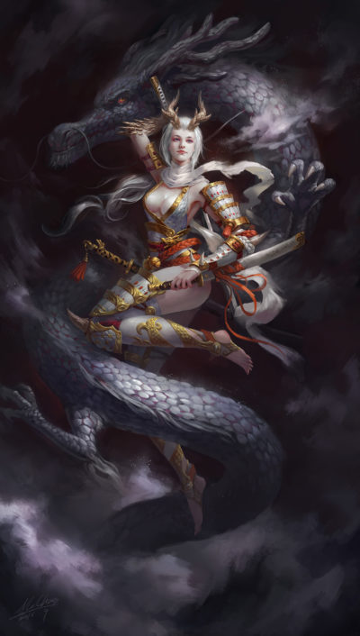 The White Dragon Princess, wenfei ye_01