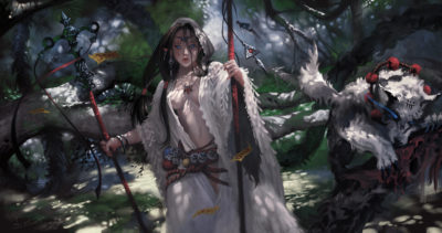battle in the woods_shaman, Taejune Kim_01