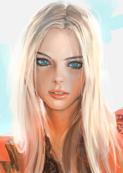 blond painting from referrence , in shoo_01