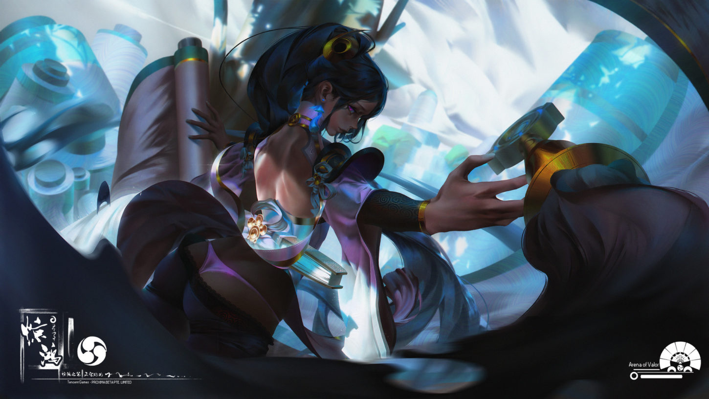 Arena of Valor 上官婉儿【惊鸿之笔】 · Practice【Person illustrations】, Xiang Liu_02