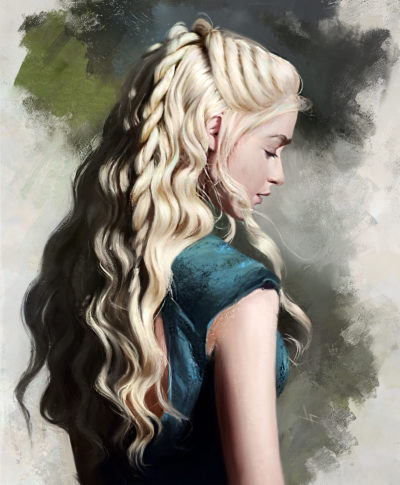 Daenerys a bit of hair practice, Justine Florentino_01