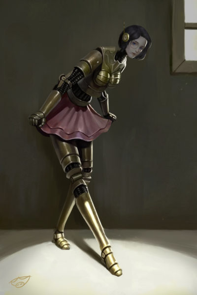 steam punk armor girl